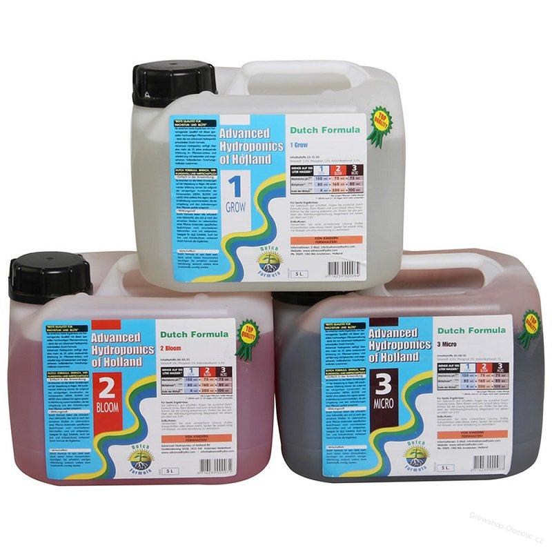Advanced Hydroponics Dutch formula sada grow bloom micro 3x5L